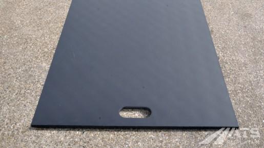 Onderkant van de 75 cm kunststof rijplaat