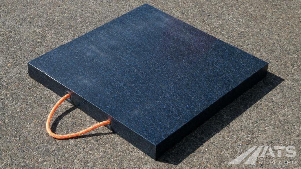 Kunststof stempelplaat op de grond