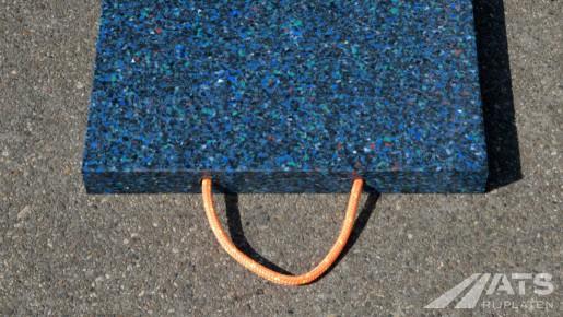 Closeup van een kunststof stempelplaat