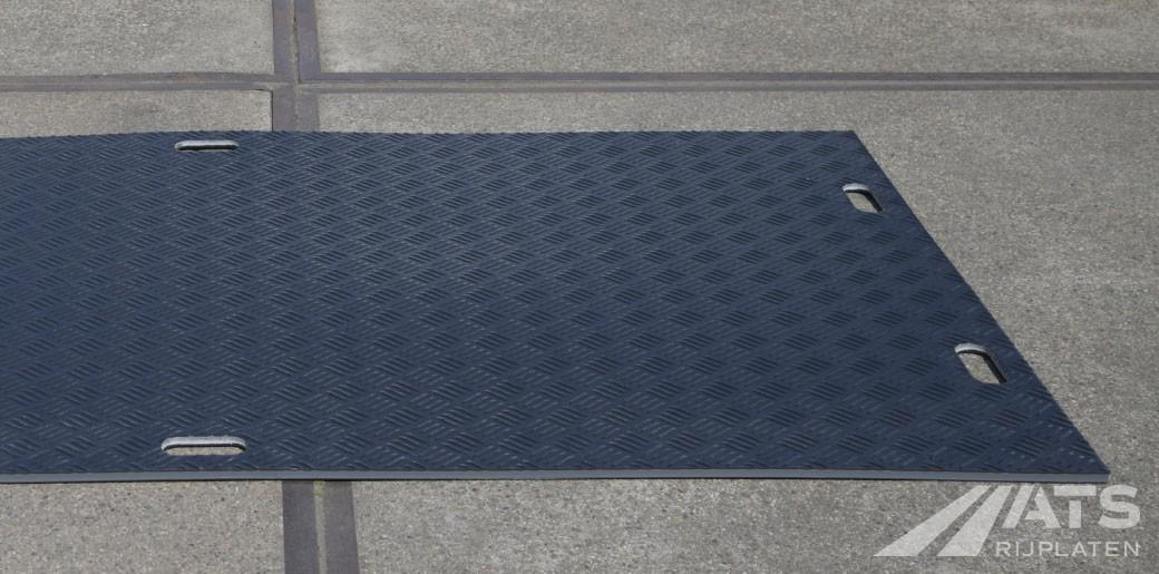 Zijkant van de 240mm A-kwaliteit kunststof rijplaat